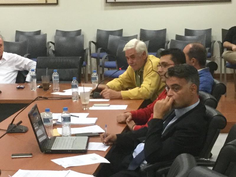Ο πρόεδρος Συκορράχης κ. Ευστάθιος Γιαμουρίδης στο 9ο τακτικό ΔΣ της 20/04/2016 στις 21:22
