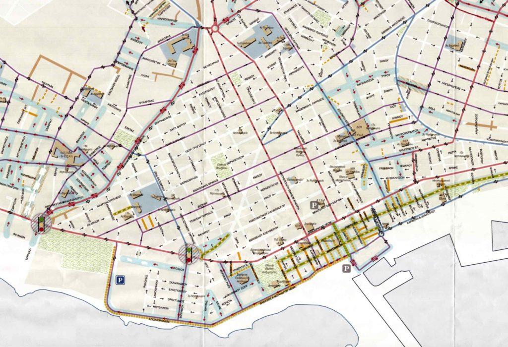 Άμεσες Κυκλοφοριακές Ρυθμίσεις (2017) σύμφωνα με τις προτάσεις των μελετητών στη Β' Φάση της μελέτης και τις τροποποιήσεις από υπηρεσία και Δημοτικό Συμβούλιο